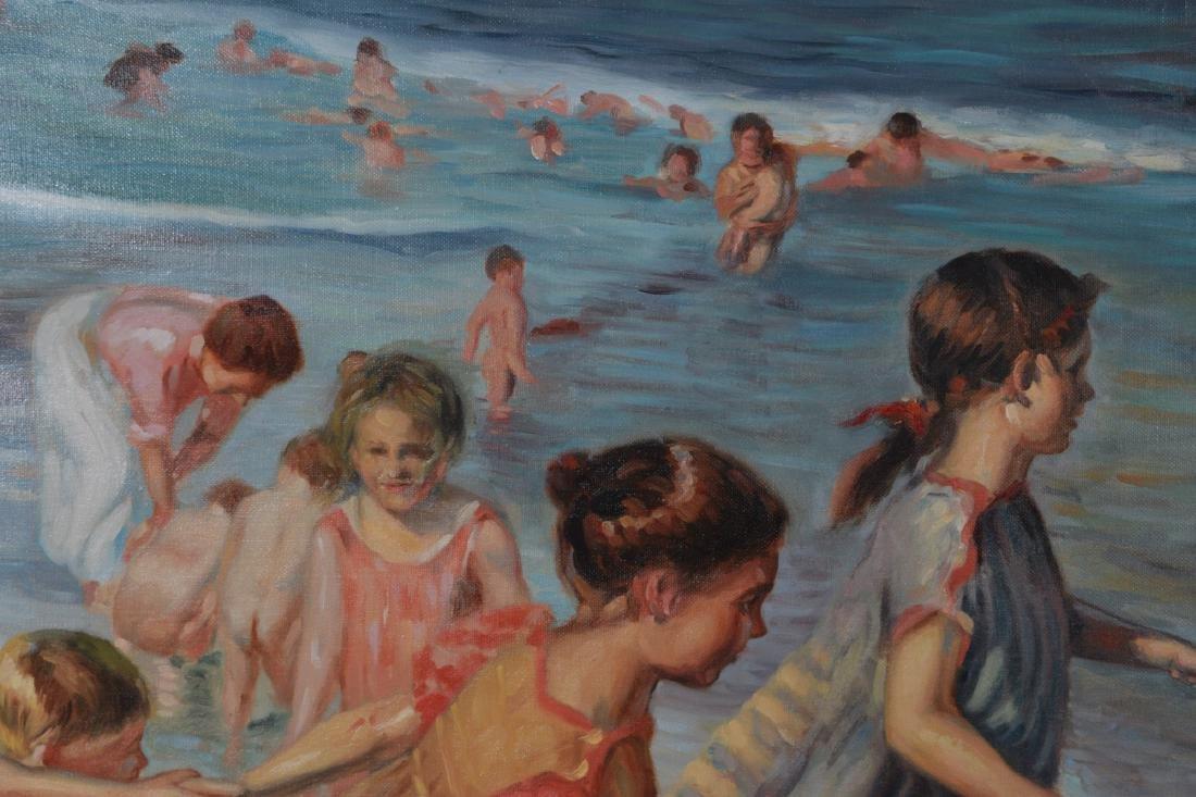 Oil on Canvas, Beach Scene - 3