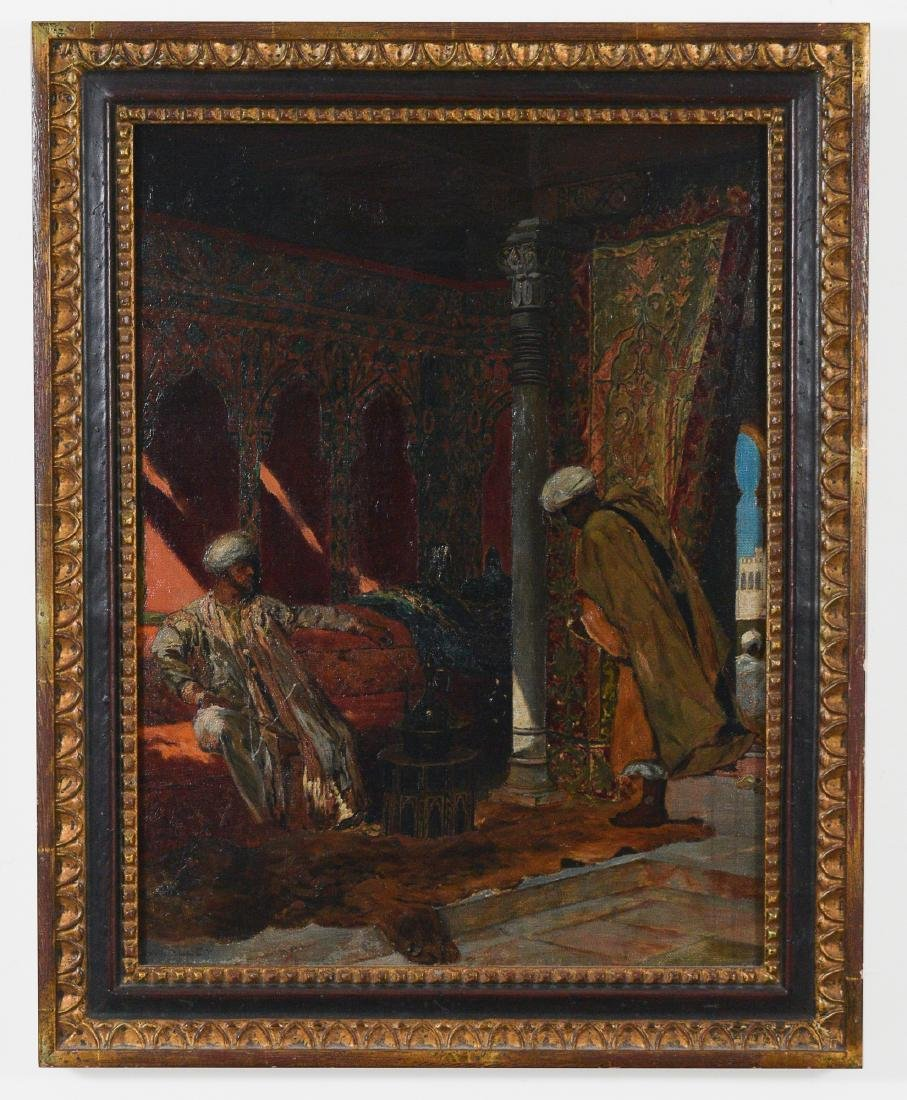 Oil on Canvas, Middle Eastern Scene by W. Halley