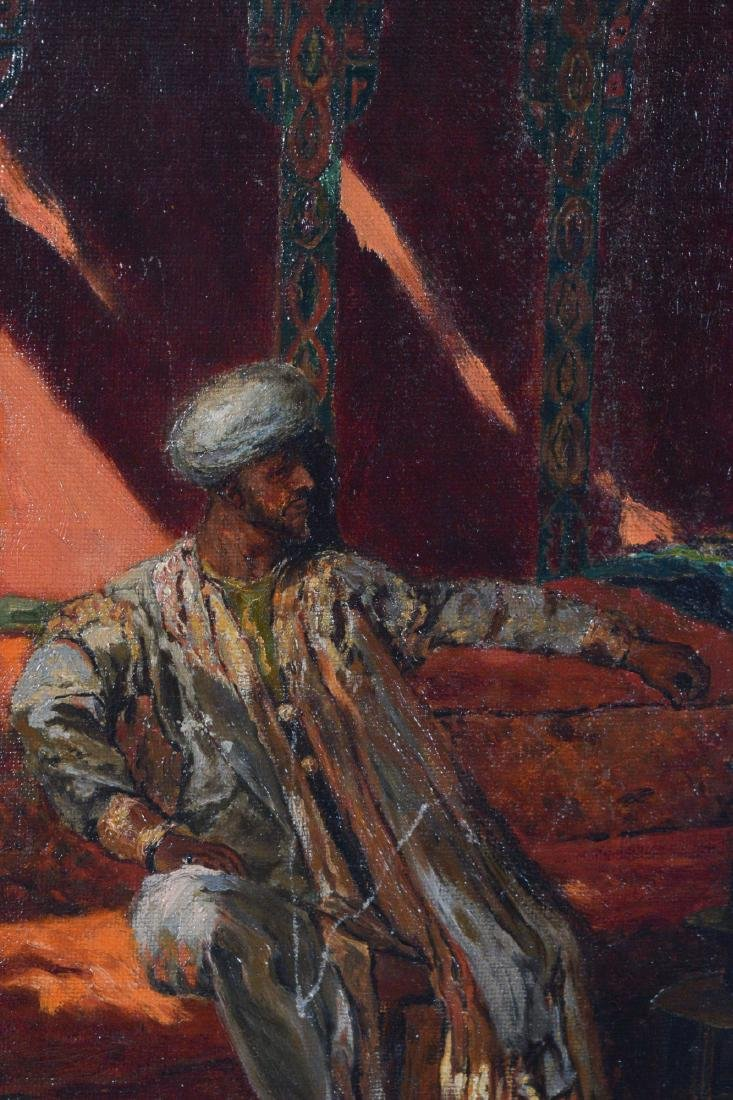 Oil on Canvas, Middle Eastern Scene by W. Halley - 4