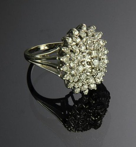 14K Gold Ring with 49 Diamonds