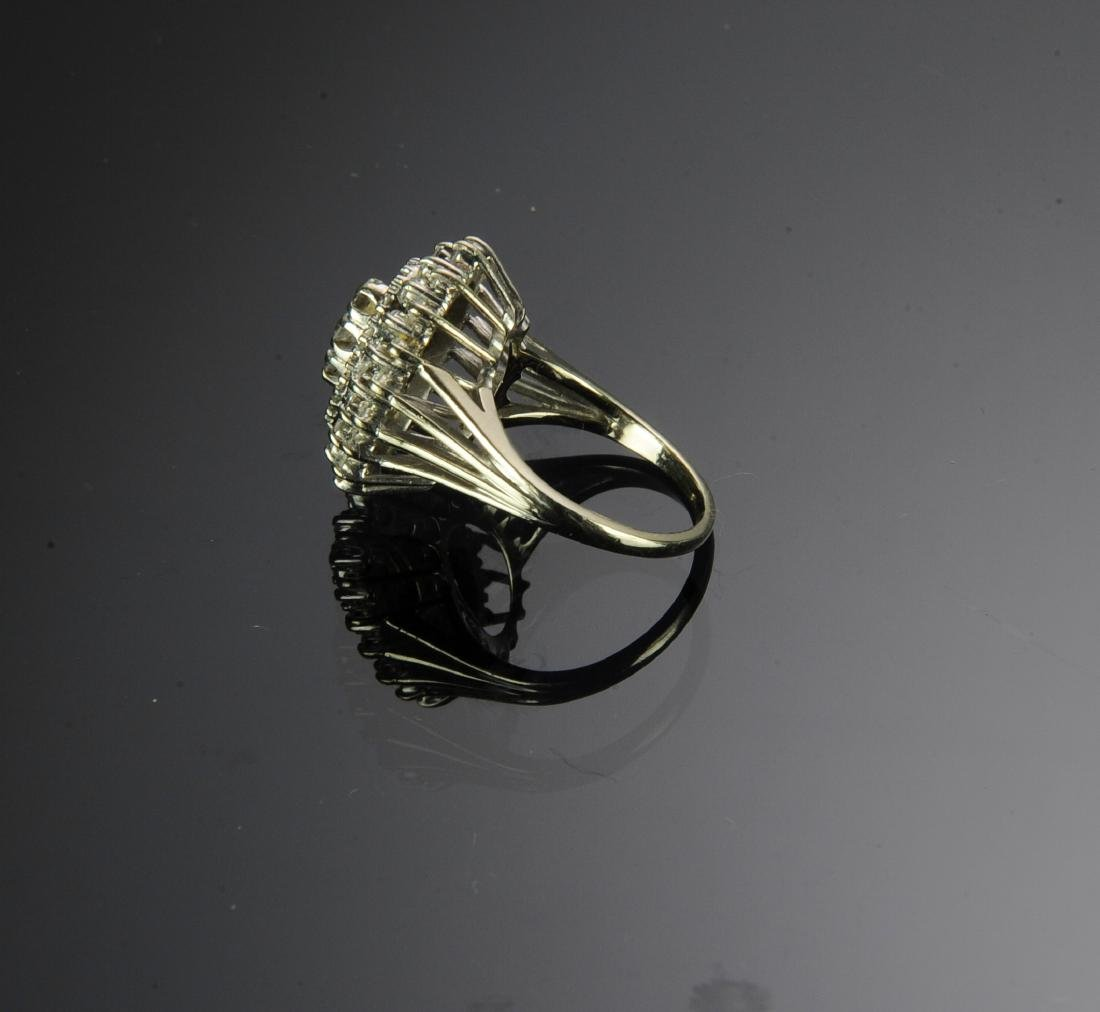 14K Gold Ring with 49 Diamonds - 3