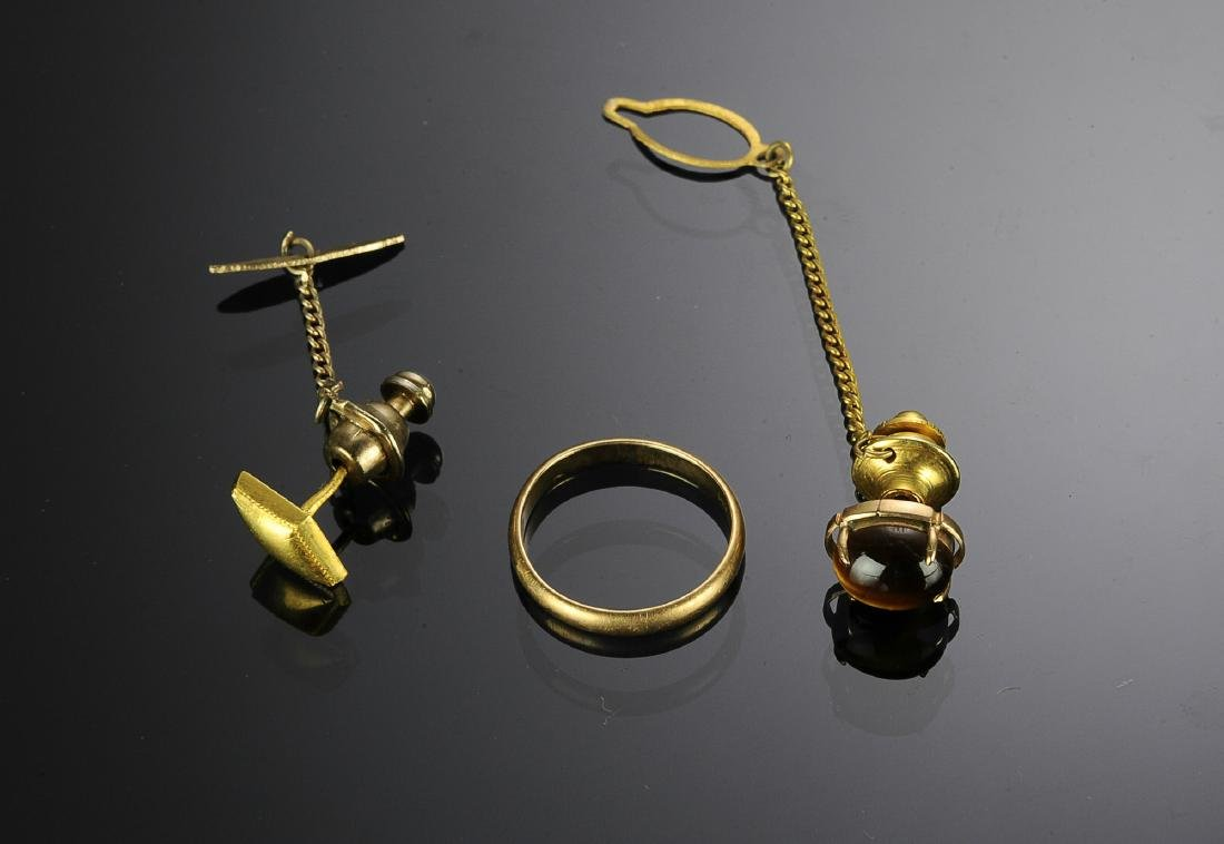 Three Pieces 14K Gold Jewelry