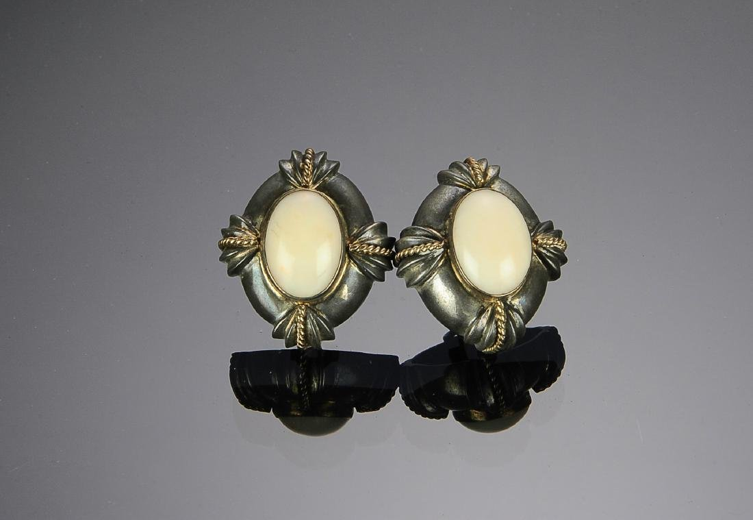 Sterling Silver and Gold Earrings by MAZ
