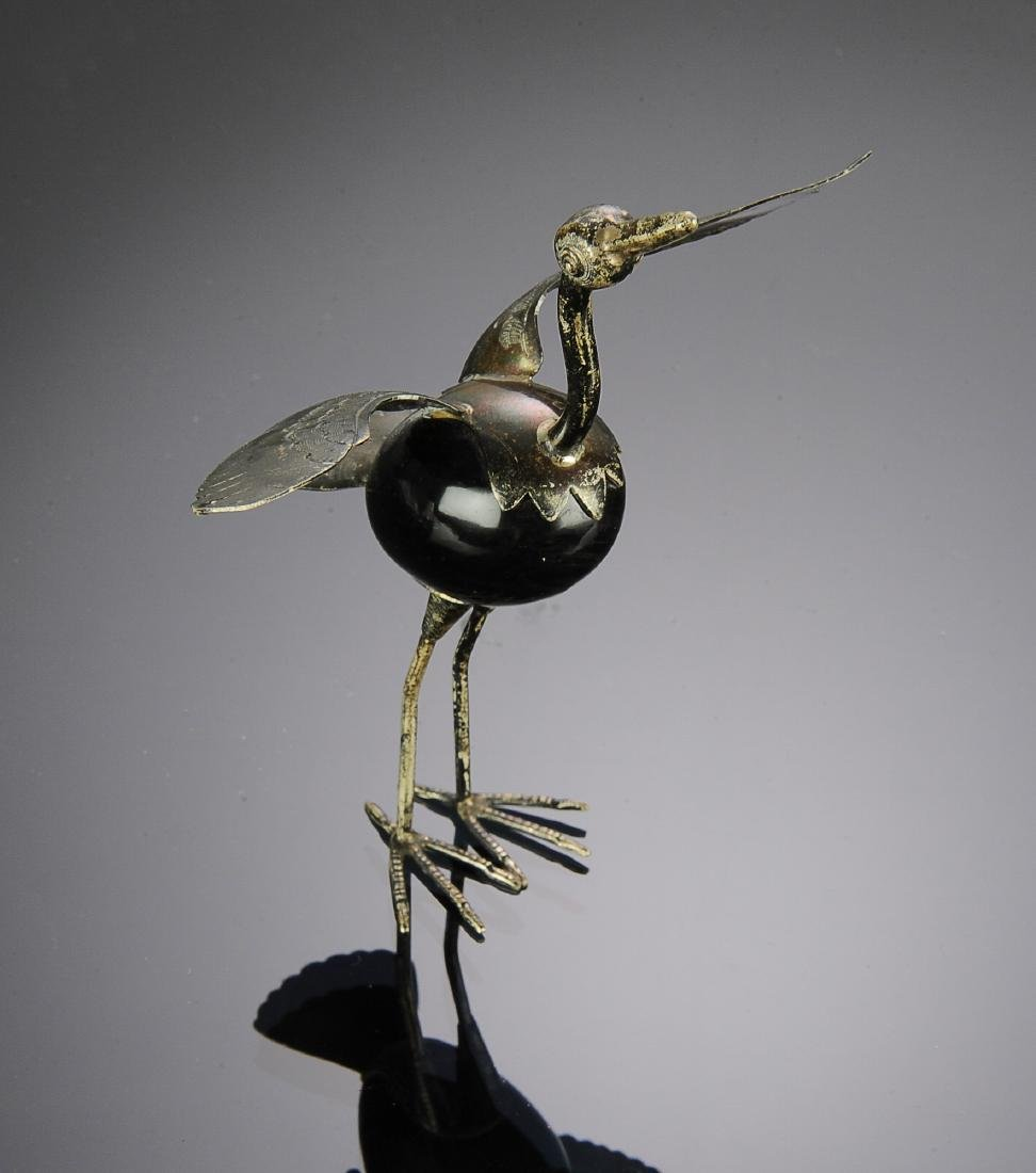Mexican Silver Bird with Onyx Body