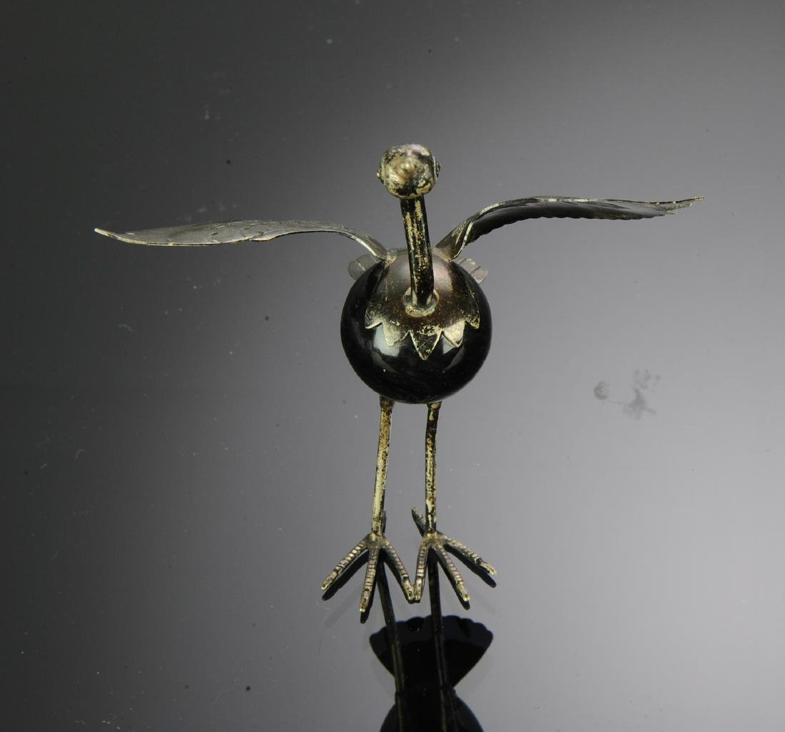 Mexican Silver Bird with Onyx Body - 3