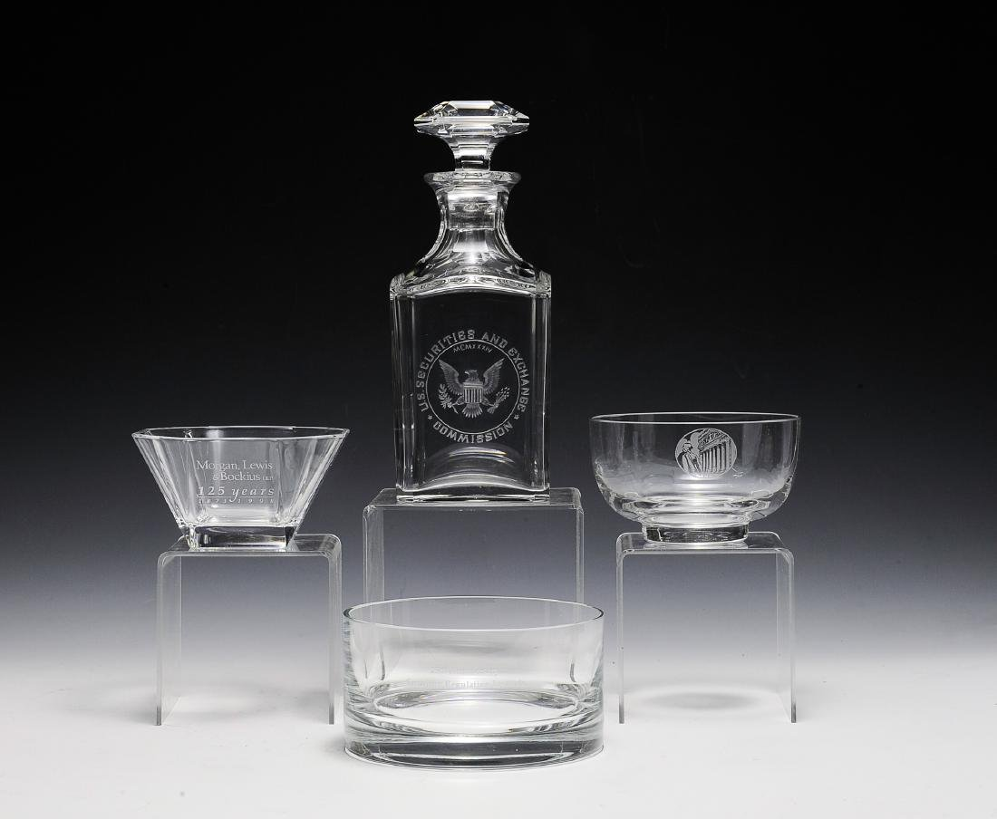 Four Pieces of Crystal Inc. Baccarat