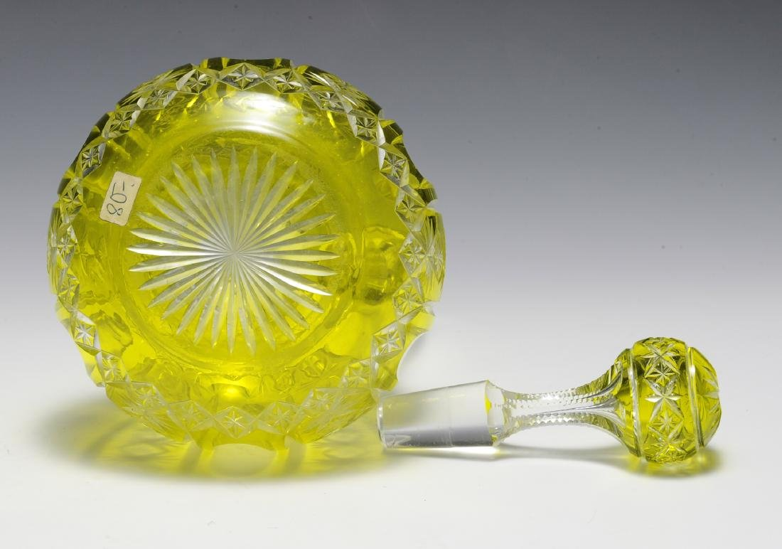 19th Century Bohemian Lime Cut to Clear Ewer - 5