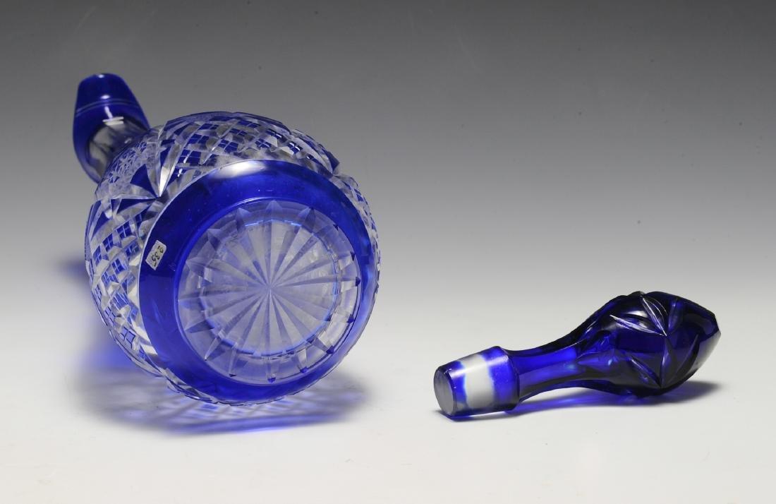 Cobalt Cut to Clear Ewer - 5