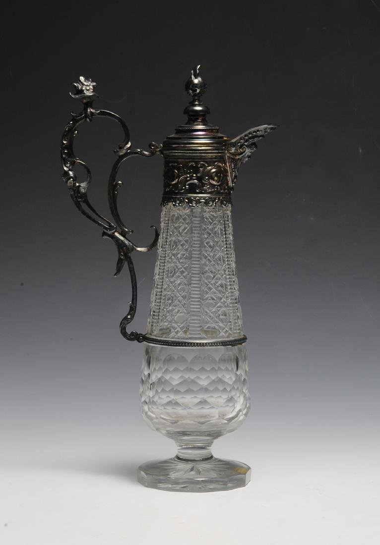 A Victorian Crystal & Plate Ewer - 3