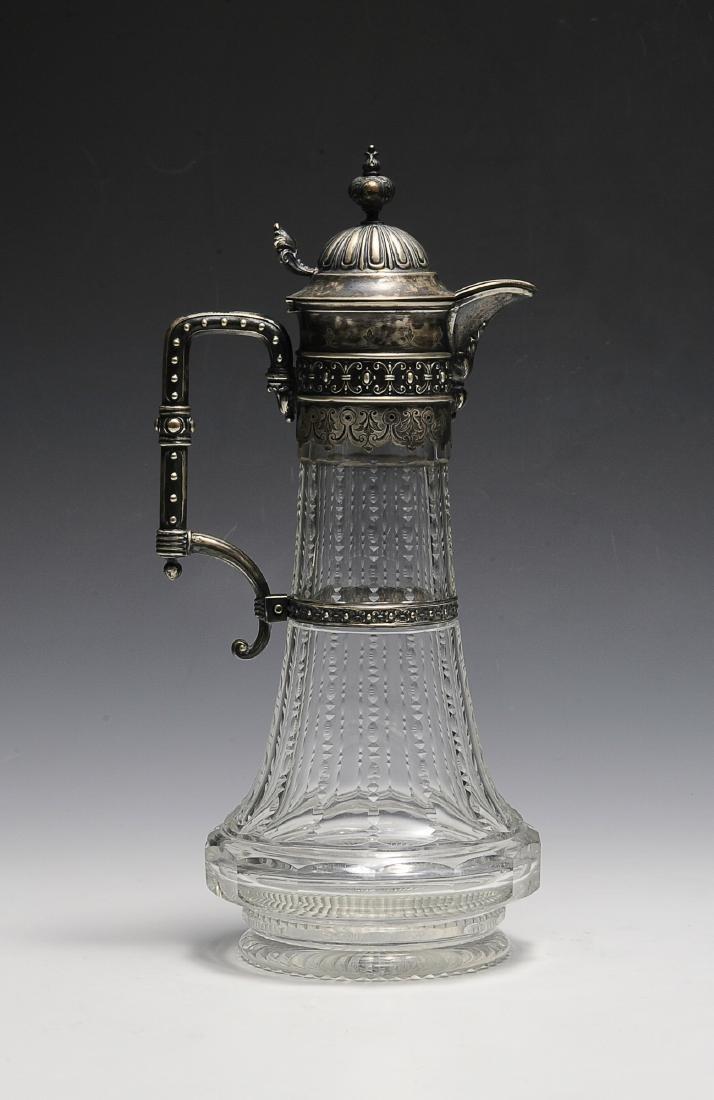 Silver Mounted Crystal Ewer Circa 1880