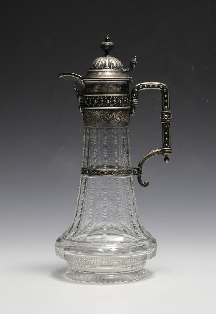 Silver Mounted Crystal Ewer Circa 1880 - 3