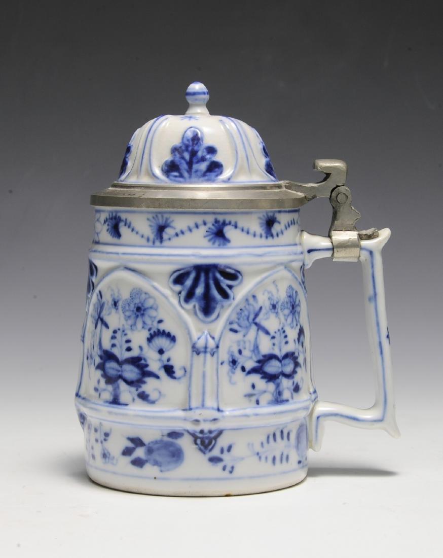 19th Century Blue Onion Stein by Schney