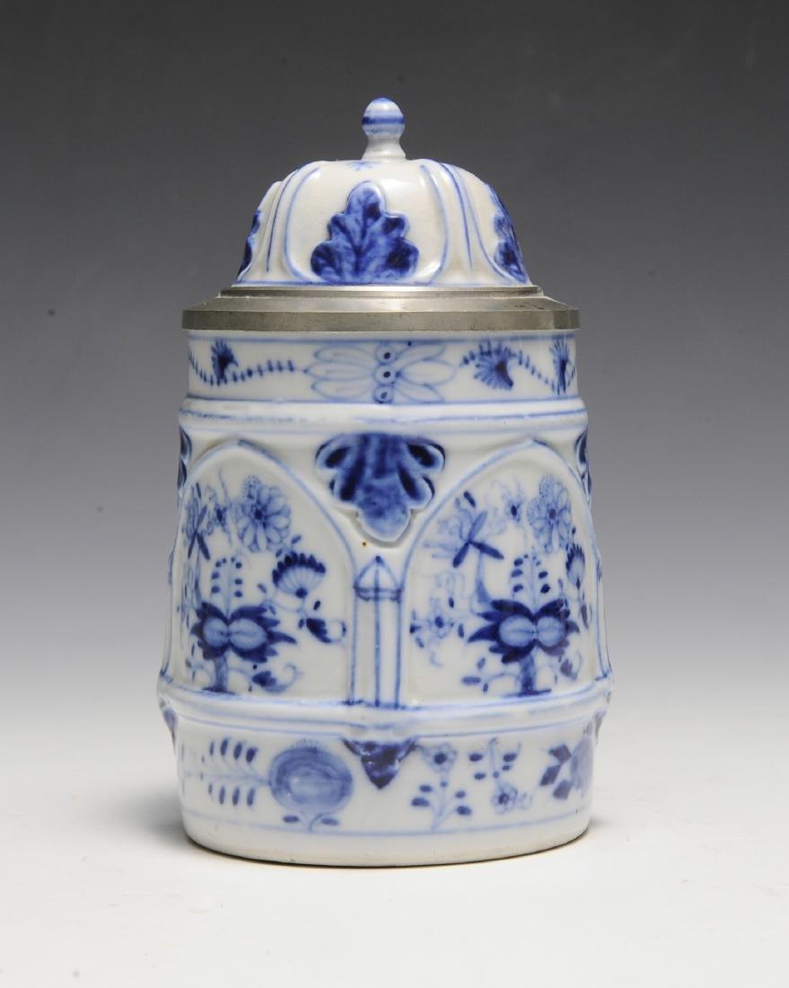19th Century Blue Onion Stein by Schney - 2