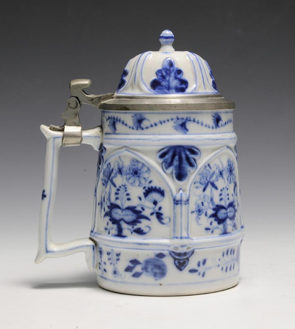 19th Century Blue Onion Stein by Schney - 3