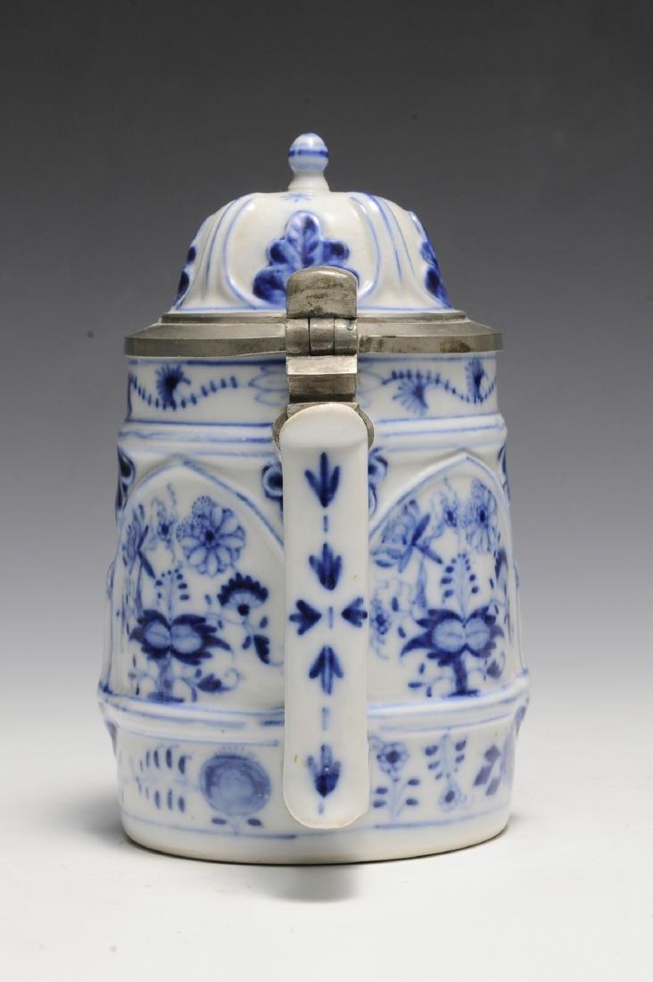 19th Century Blue Onion Stein by Schney - 4