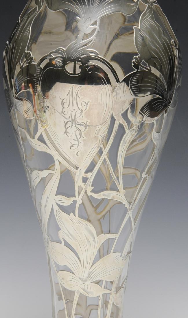 Gorham Silver Over Steuben Glass Vase - 3