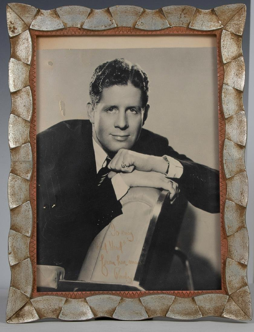 Autographed Photo of Rudy Vallee to Eleanor Vallee
