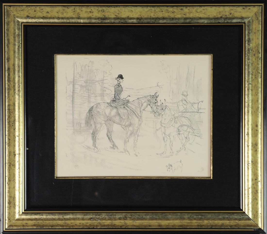 Lithograph of Woman on Horseback by Toulouse-Lautrec