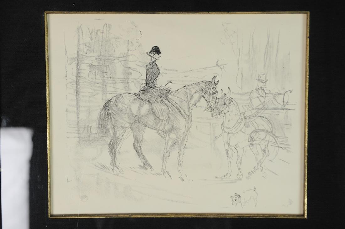 Lithograph of Woman on Horseback by Toulouse-Lautrec - 2