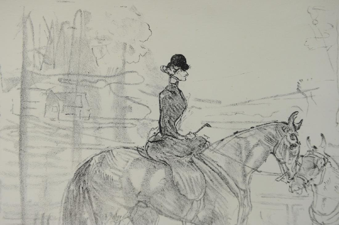 Lithograph of Woman on Horseback by Toulouse-Lautrec - 4