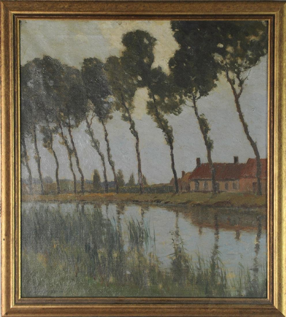 Oil on Canvas Painting by Charles Warren Eaton