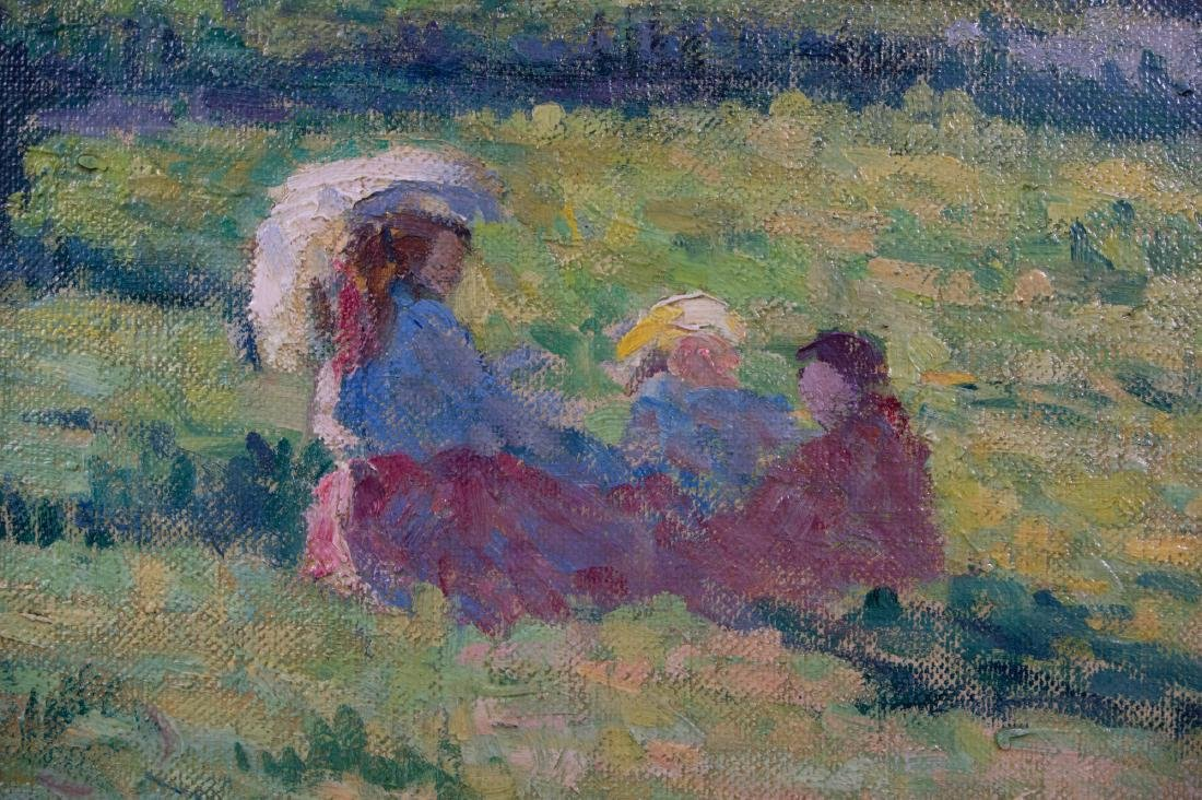 1908 Oil on Canvas by Maximilien Luce - 3