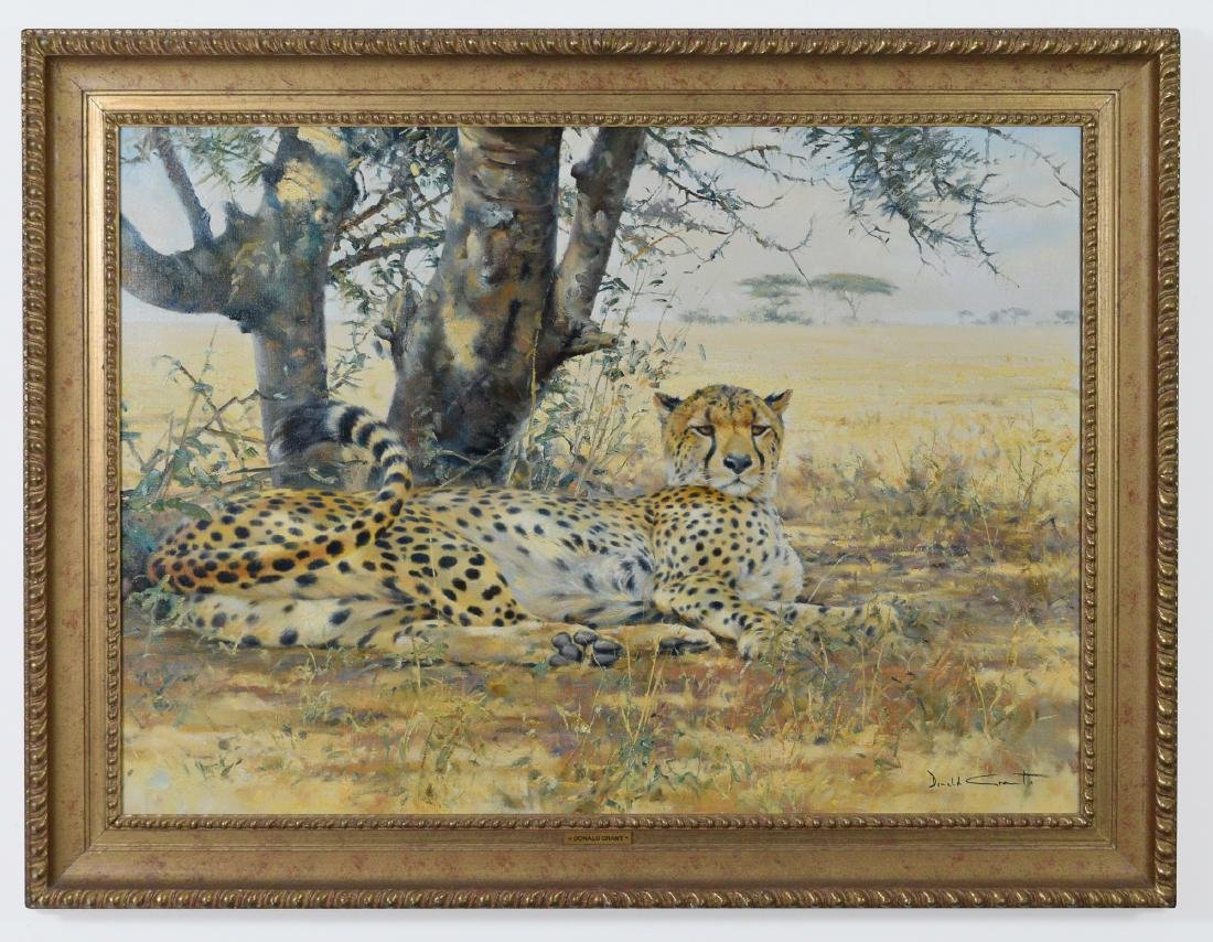 Oil on Canvas of a Cheetah, by Donald Grant