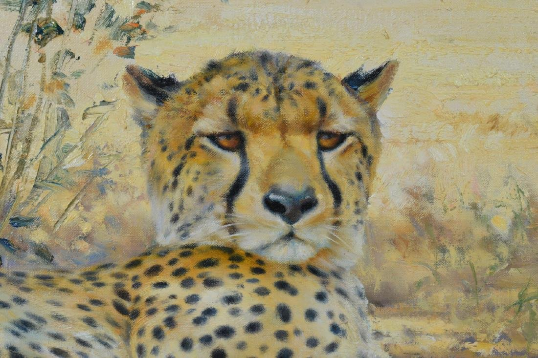 Oil on Canvas of a Cheetah, by Donald Grant - 2