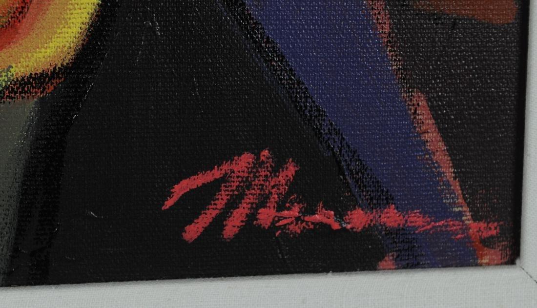 Framed Acrylic by Isaac Maimon with Catalog - 4