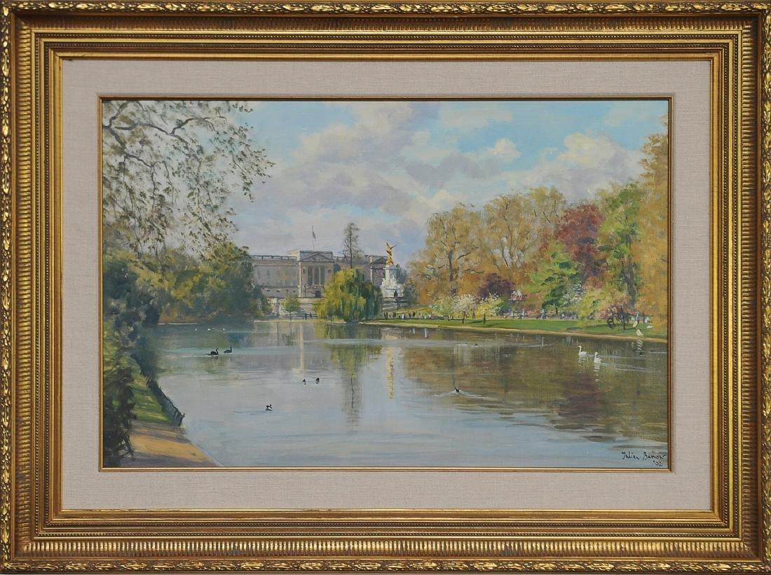 Acrylic on Canvas Buckingham Palace by Julian Barrow