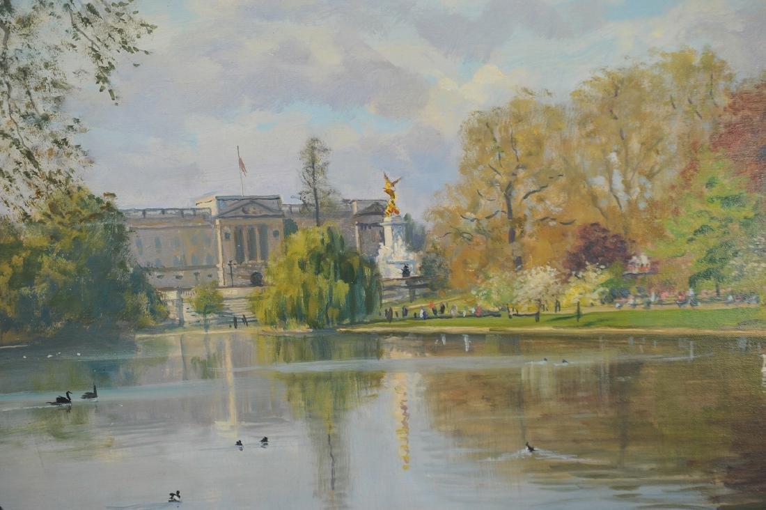 Acrylic on Canvas Buckingham Palace by Julian Barrow - 2