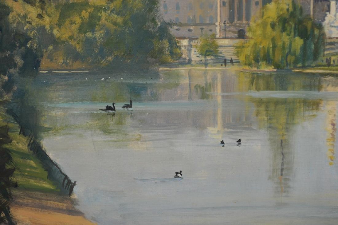 Acrylic on Canvas Buckingham Palace by Julian Barrow - 4