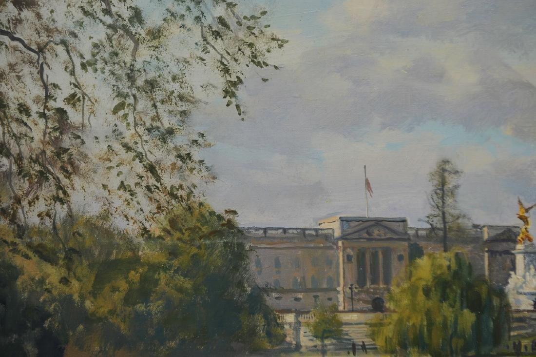 Acrylic on Canvas Buckingham Palace by Julian Barrow - 5