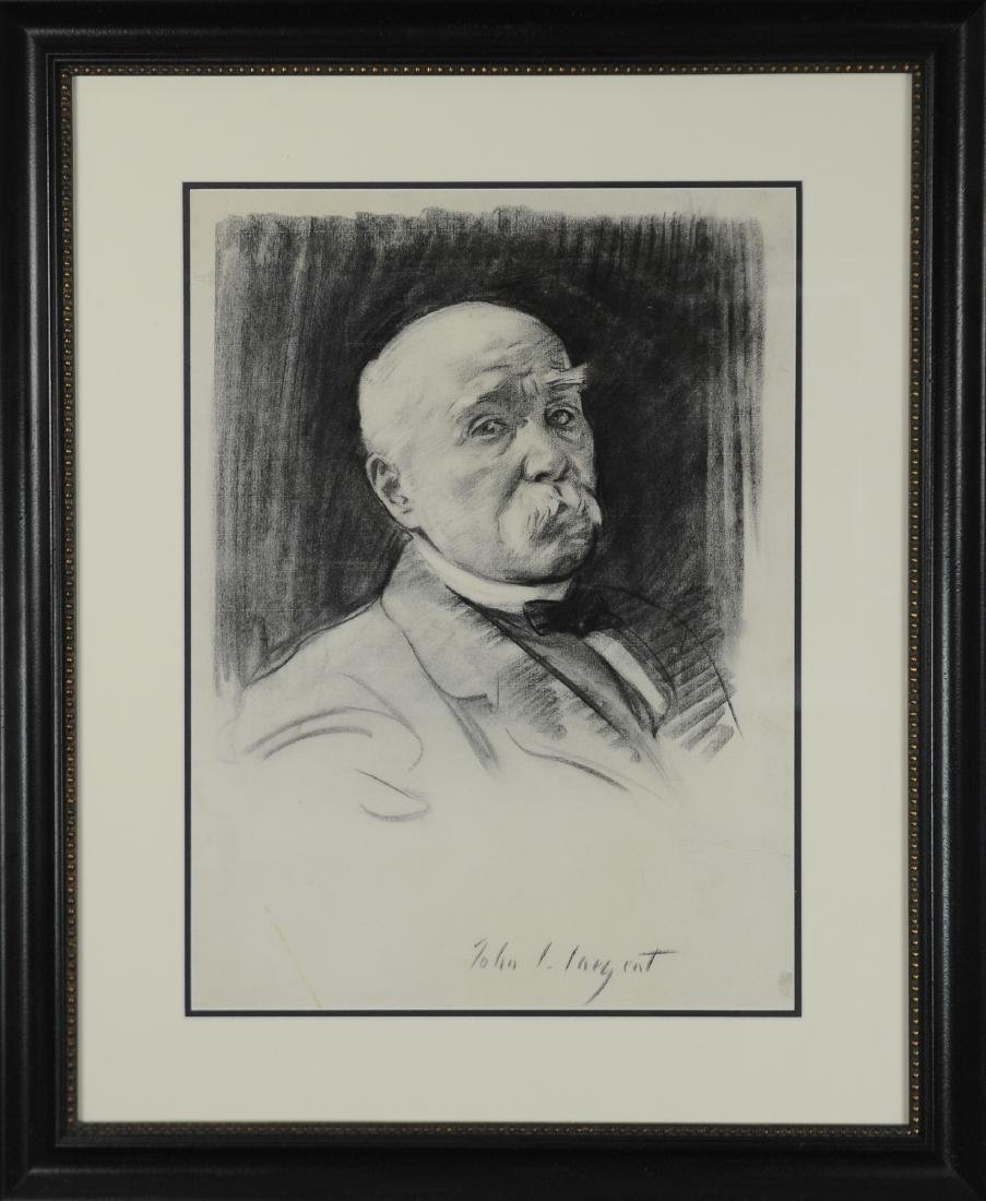 John Singer Sargent Drawing of Georges Clemenceau
