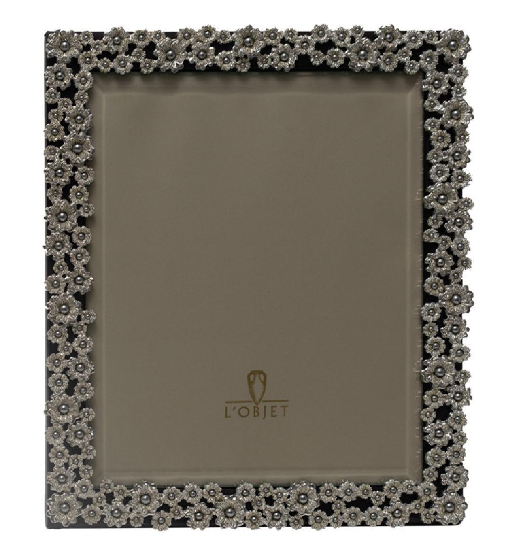 L'Objet Pearl Flowers Swarovski & Platinum Frame