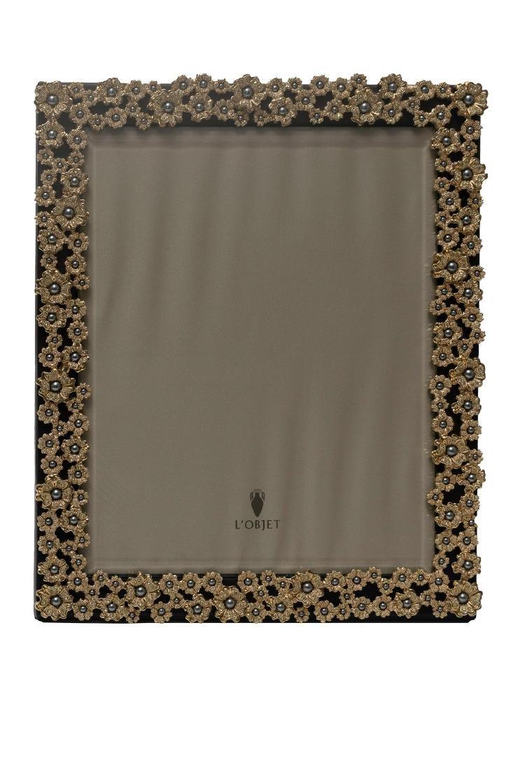 L'Objet Pearl Flowers Swarovski & Gold Frame