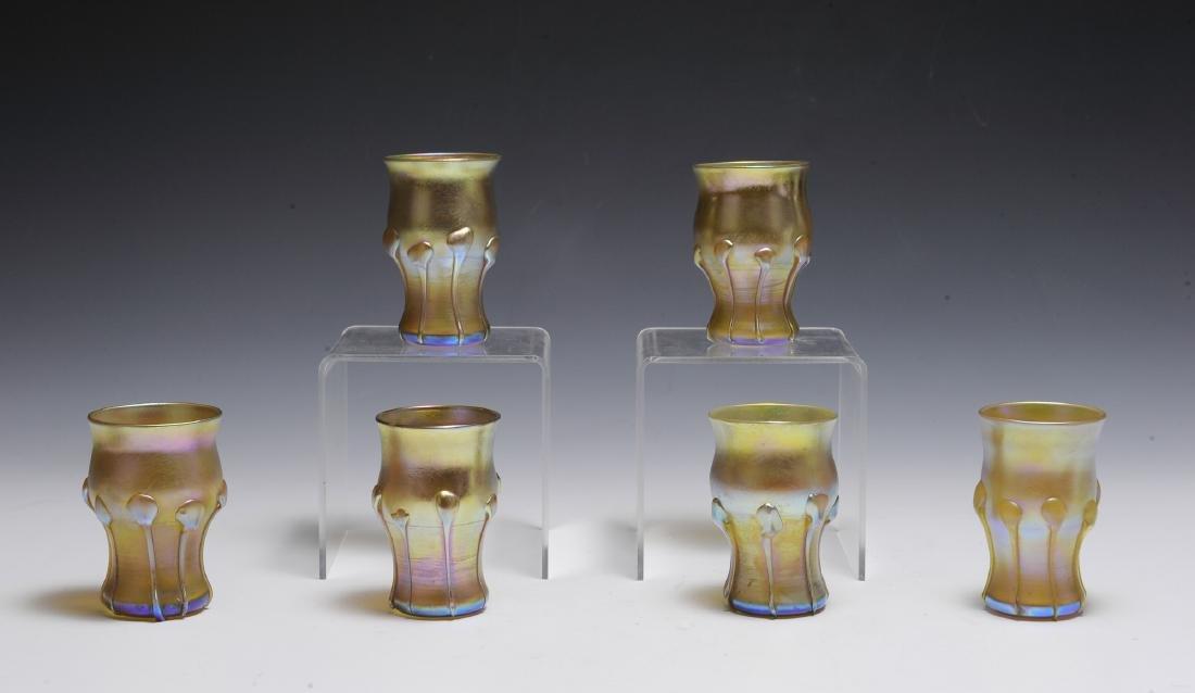 Set of 6 Tiffany Favrile Glasses