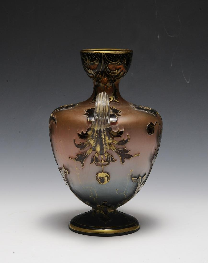 19th Century Ruby, Pink, Blue, Clear & Gold Vase - 2