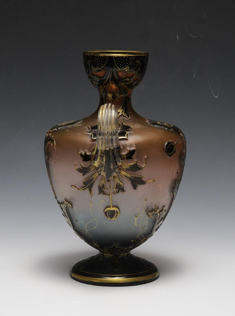 19th Century Ruby, Pink, Blue, Clear & Gold Vase - 4