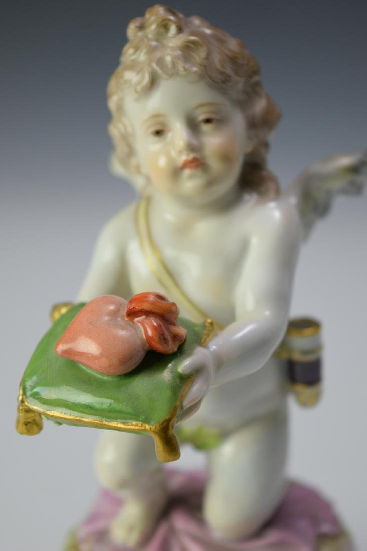 "Meissen ""Kneeling Cupid Offering a Heart"" - 4"