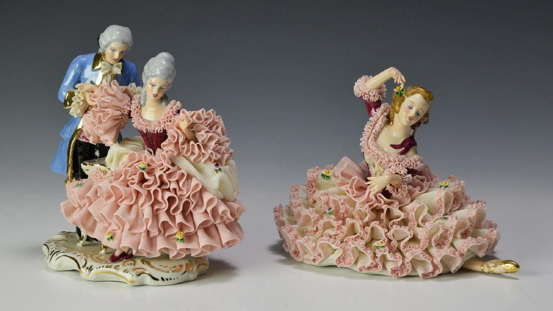 Two Porcelain Dresden Figures