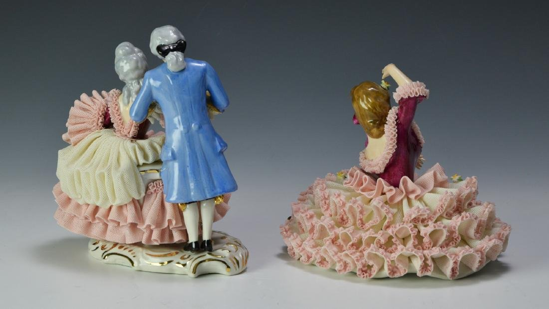 Two Porcelain Dresden Figures - 2