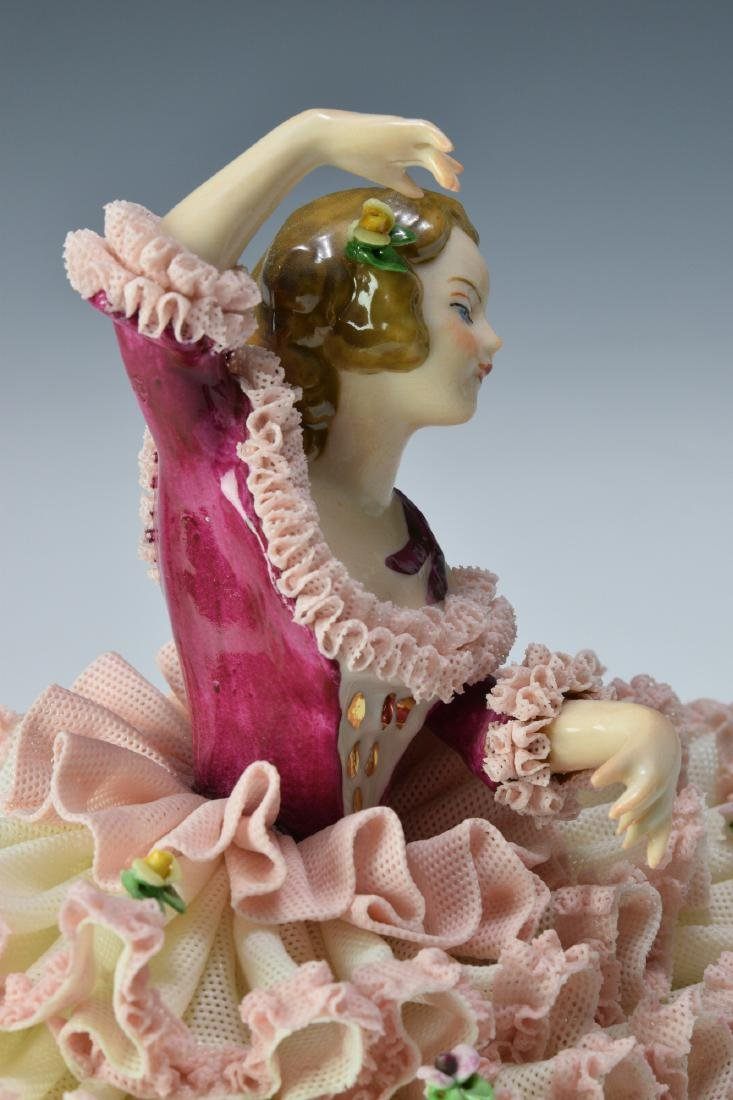 Two Porcelain Dresden Figures - 4