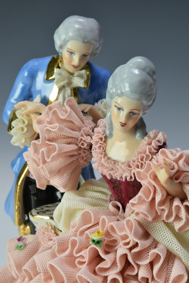 Two Porcelain Dresden Figures - 5