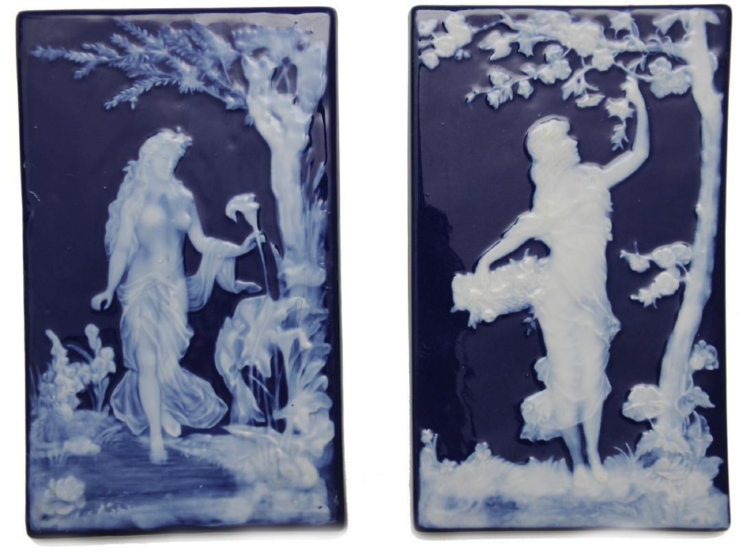Two Limoges Pate Su Pate Porcelain Plaques