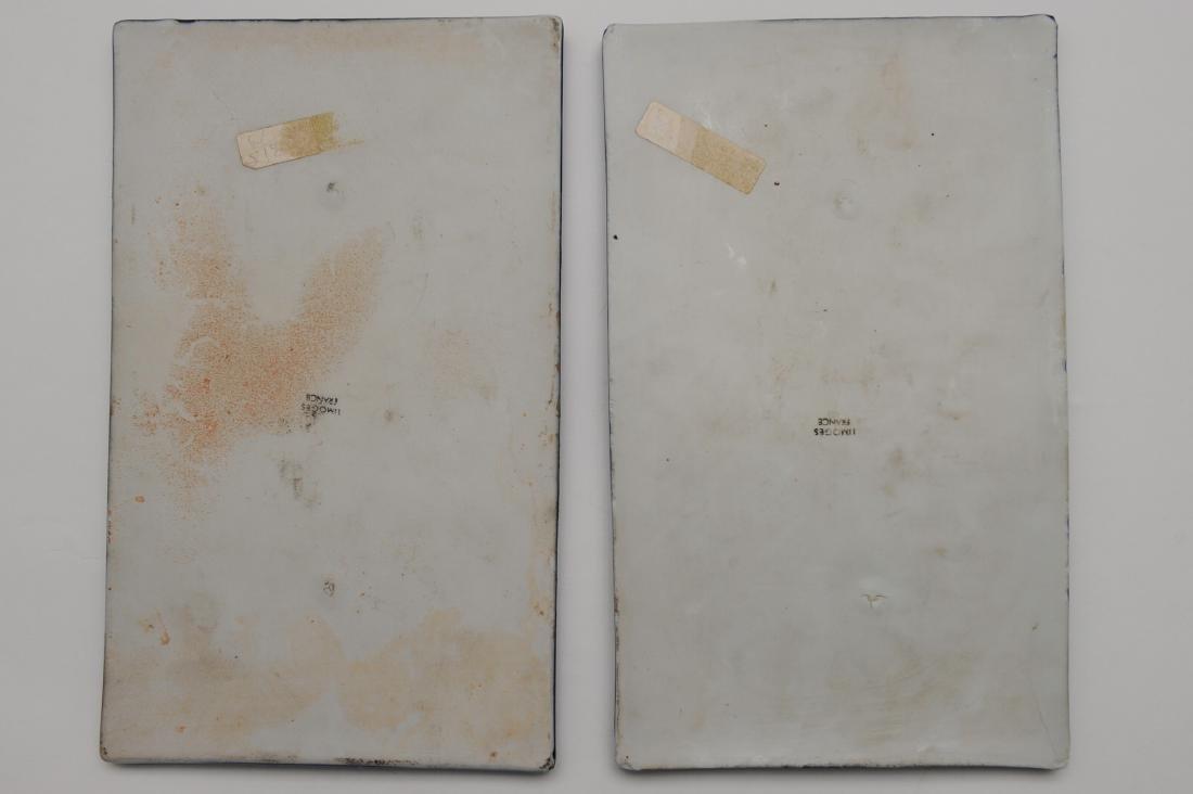 Two Limoges Pate Su Pate Porcelain Plaques - 2