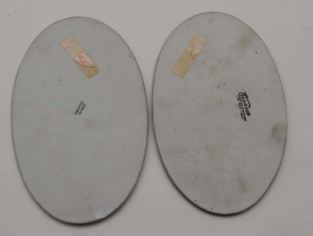 Two Oval Limoges Pate Sur Pate Jasperware Plaques - 2
