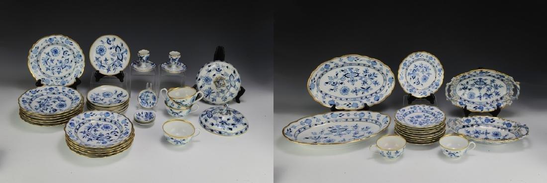 Lot of Meissen Blue Onion Dinnerware (49)