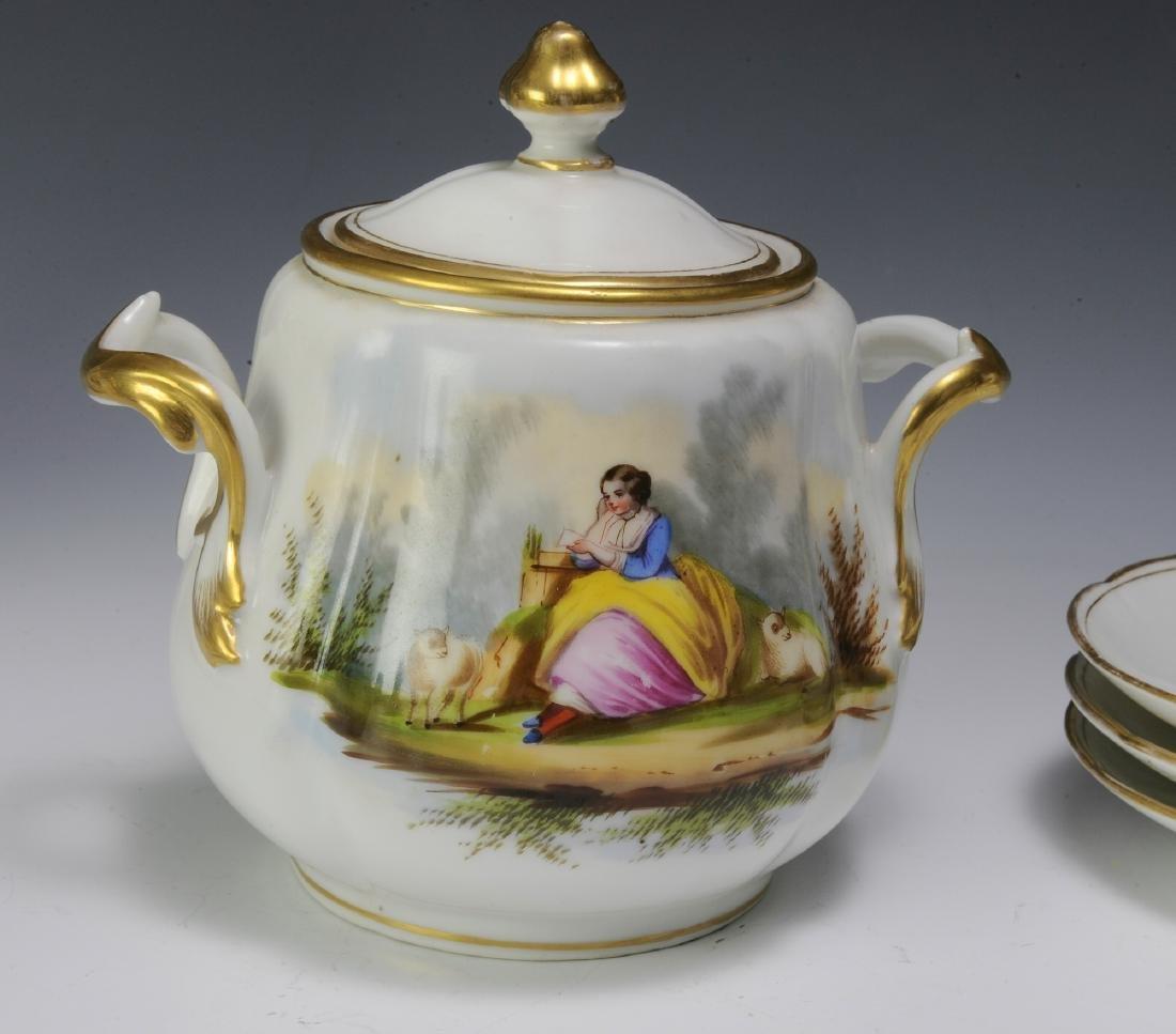 Unmarked Continental Porcelain Tea Set (16) - 10