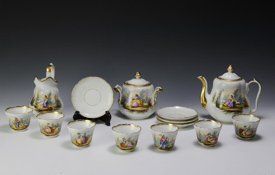 Unmarked Continental Porcelain Tea Set (16)
